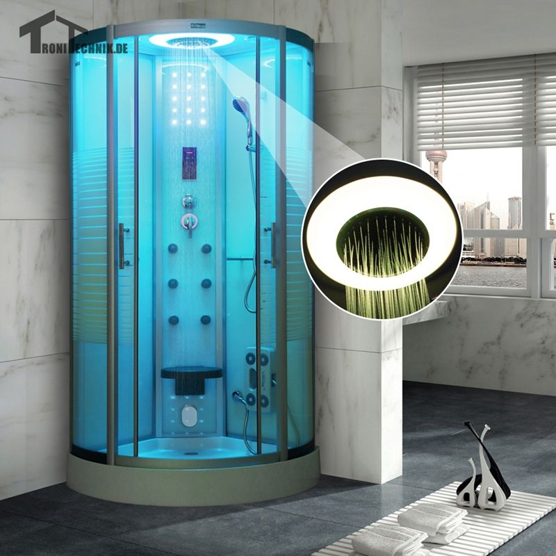 quadrant steam shower cubicle enclosure bath cabin room 800mm luxury shower bathroom jetted massage walking