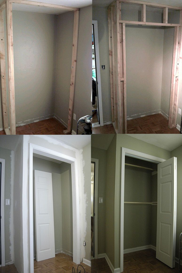 How To Build A Closet In An Existing Room For The Home Pinterest Room House And Bedrooms