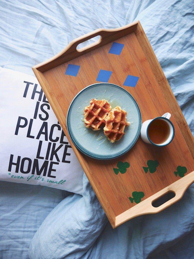 Plateau de petit dejeuner personnalisé DIY Blog Clem