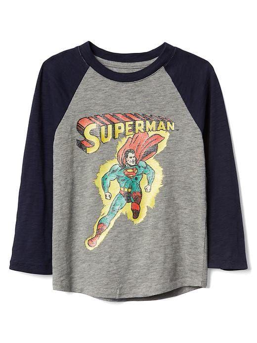 Gap Baby Babygap | Dc™ Superhero Baseball Tee Grey Heather
