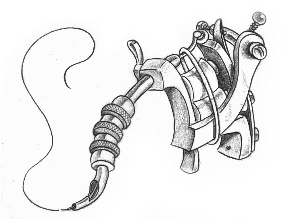 tattoo machine by markfellows on DeviantArt  |Tattoo Gun Drawing