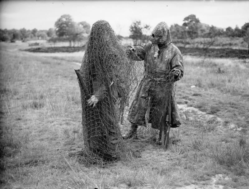 Two Lovat Scouts Wearing Sniper Camouflage Bisley Surrey 9 July 1940