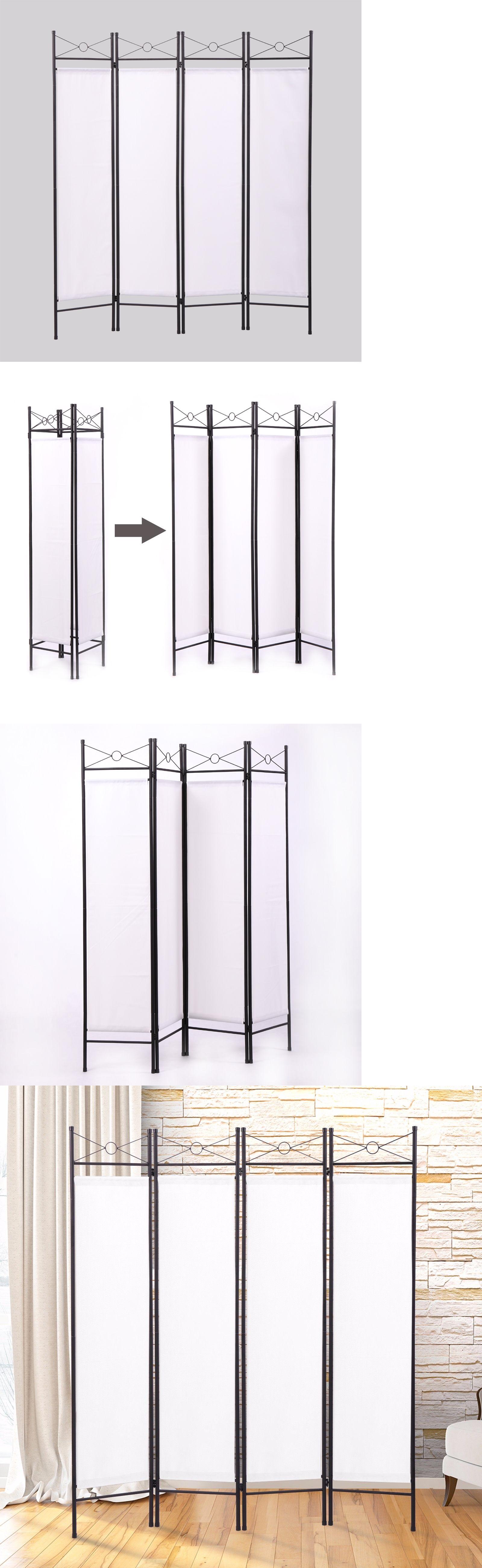 Metal Frame Room Divider Panel Screen Amazoncom JAXPETY 4 Panel Room ...