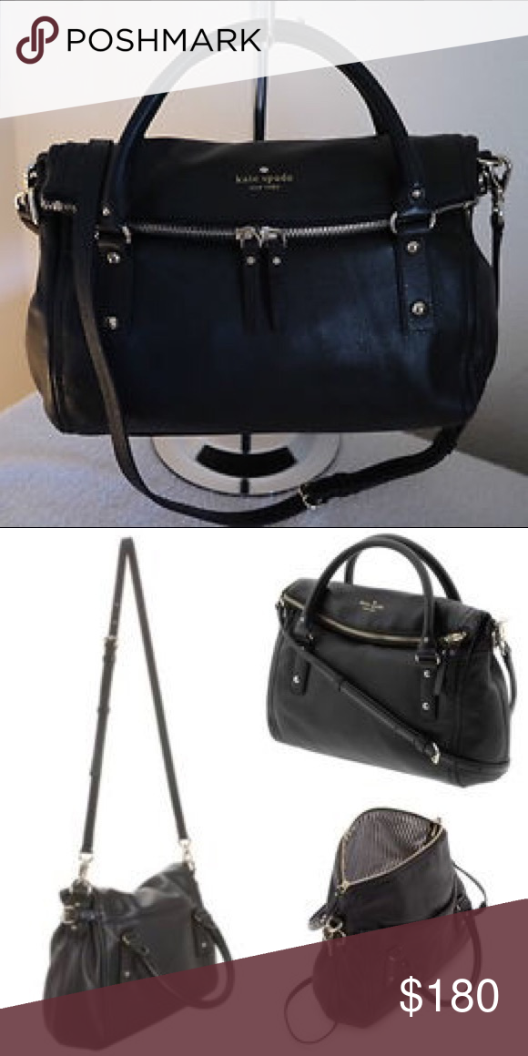 Kate Spade Small Leslie Cobble Hill Satchel Gently used, great condition. Soft pebbled leather comprises a slouchy satchel styled with fold-over top zip closure and suspended from rolled handles. Gold tone logo embossing. kate spade Bags Satchels
