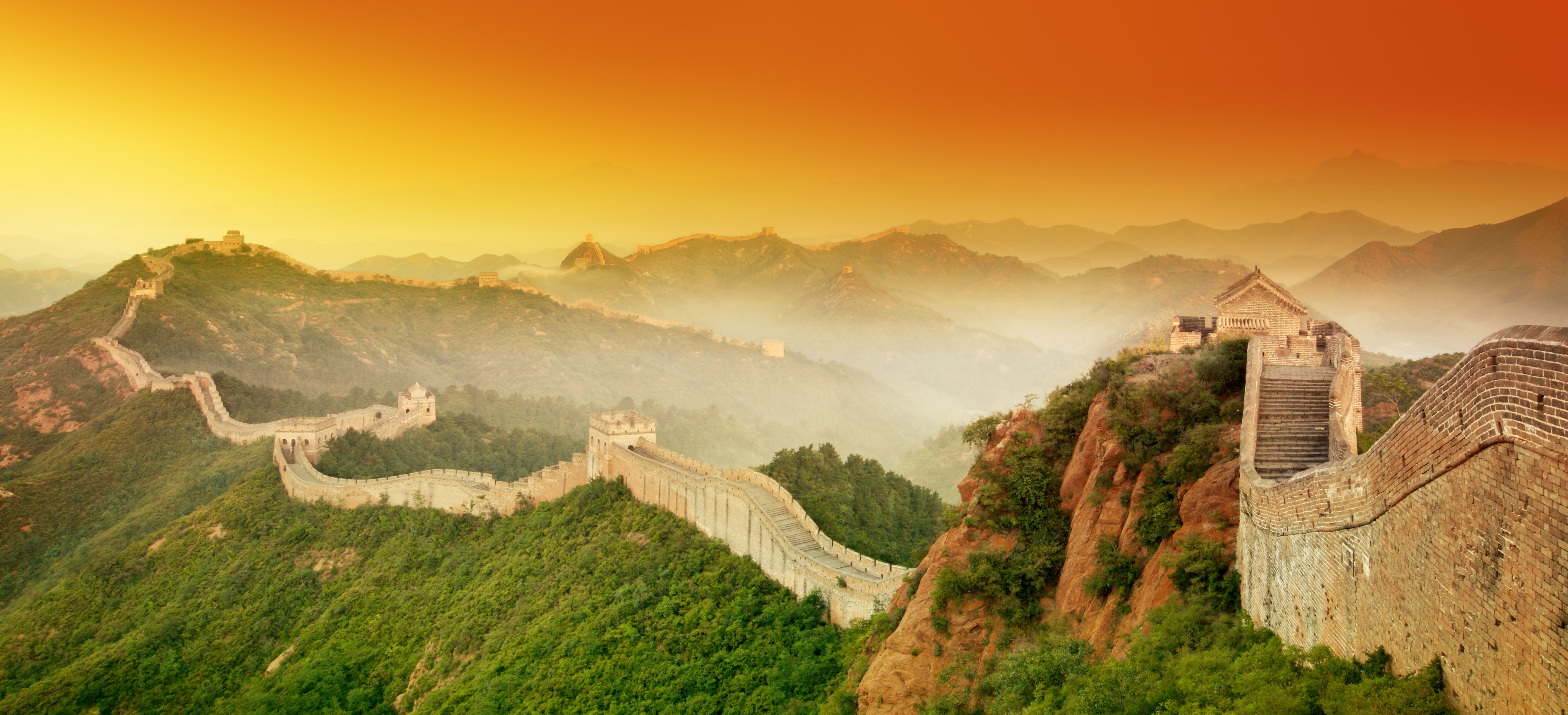 sunset at great wall china 旅行ツアー on great wall of china huanghuacheng id=71888