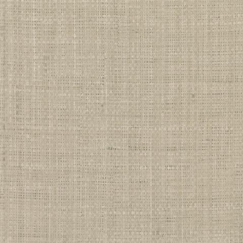 27205010 Jonus Taupe Faux Grasscloth Wallpaper