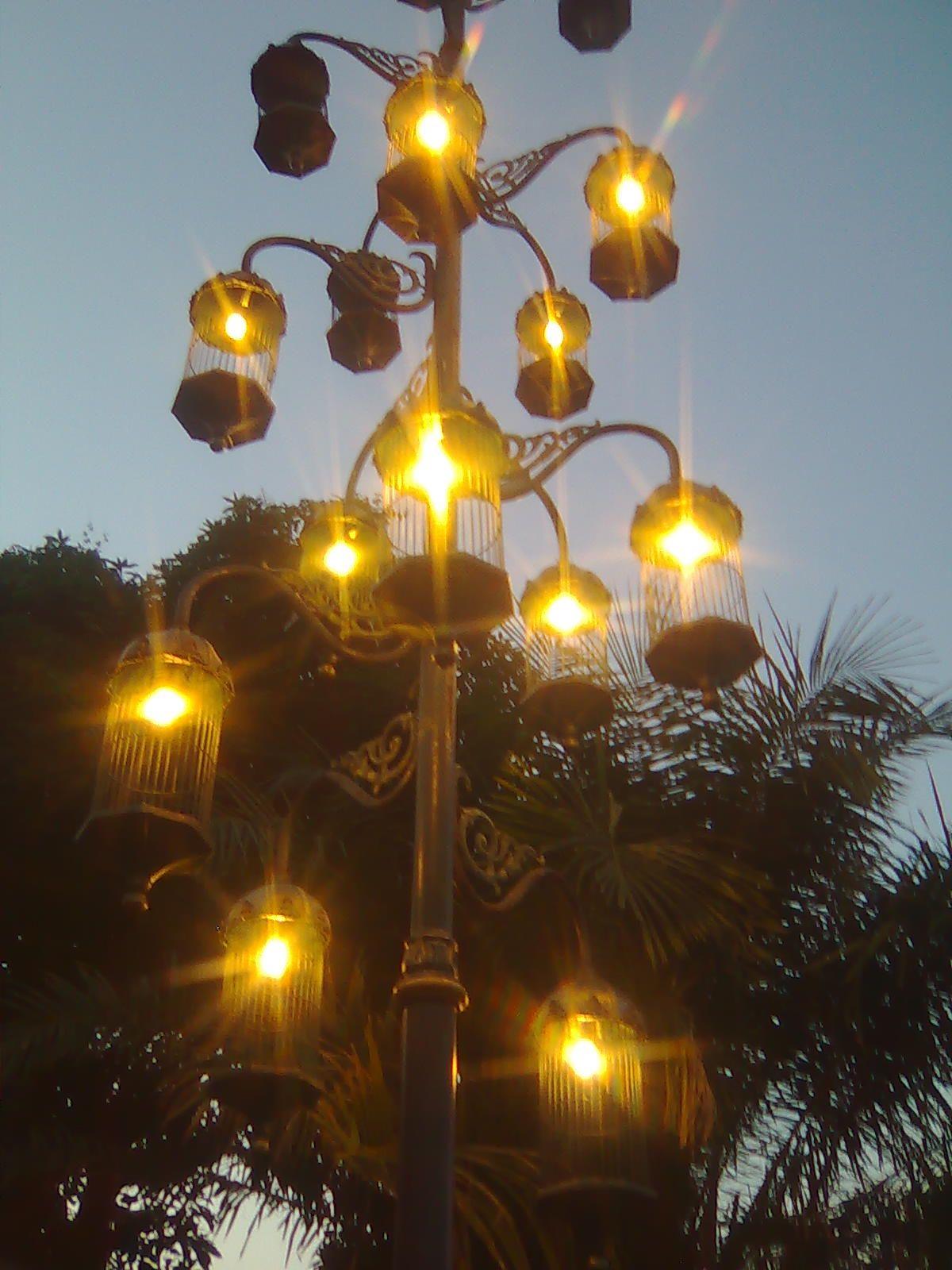a lamps of Ngarsopuro pedestrian, Solo, Indonesia