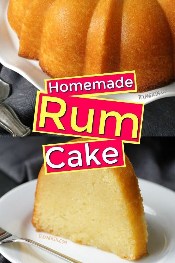 Homemade rum cake made totally from scratch! You don't need a lot of processed f...