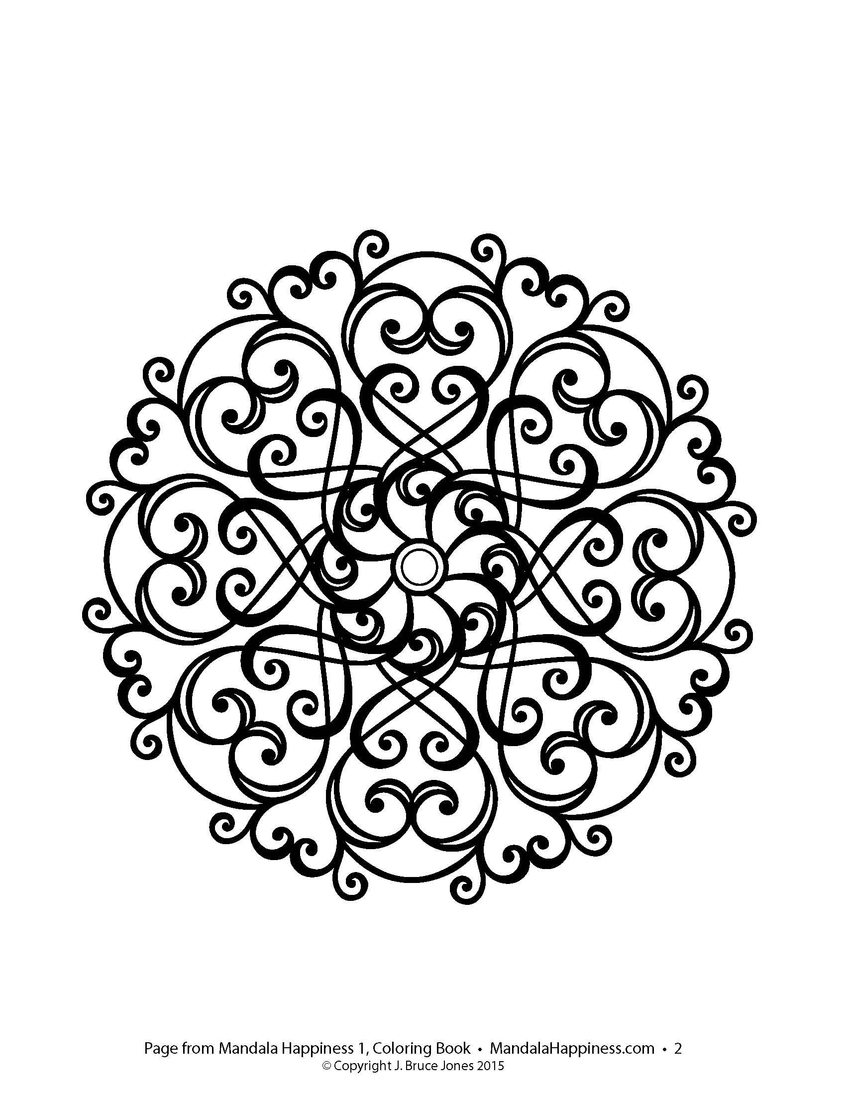 Mandala coloring pages amazon - Mandala Design From Mandala Happiness 1 Adult Coloring Book Great For Reducing Your Stress
