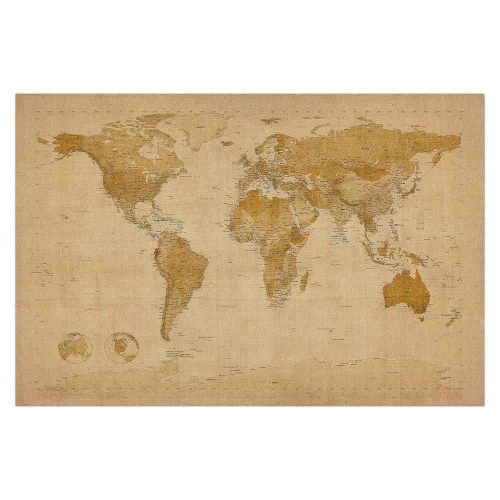 Trademark Global Michael Tompsett \'Antique World Map\' Canvas Art ...