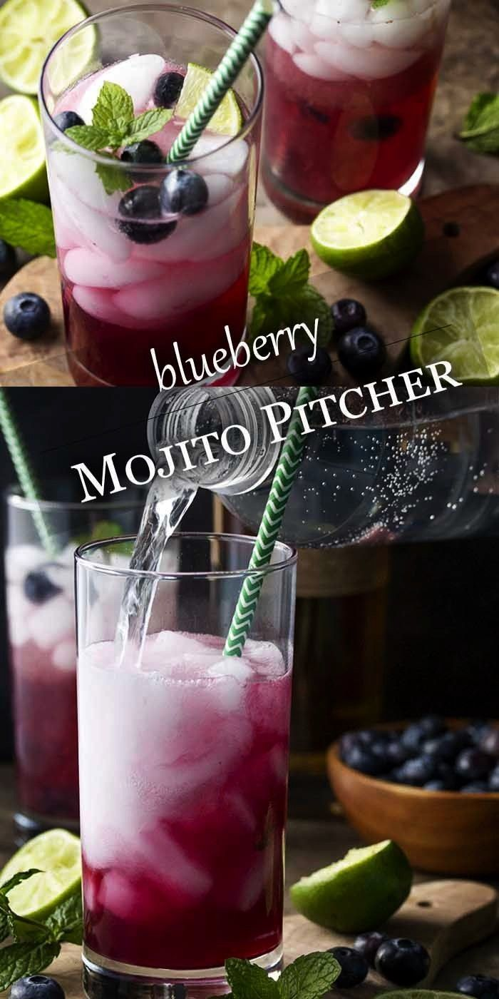 Mojito Pitcher for a Crowd - Just a Little Bit of Bacon#baconBlueberry Mojito Pitcher for a Crowd -