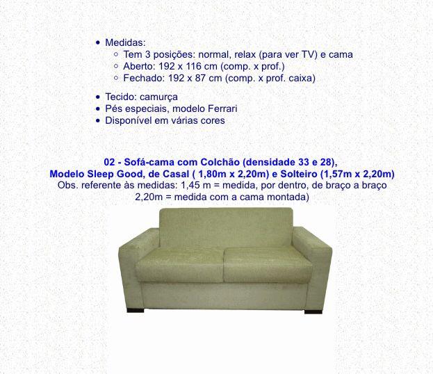 Medida sofá cama