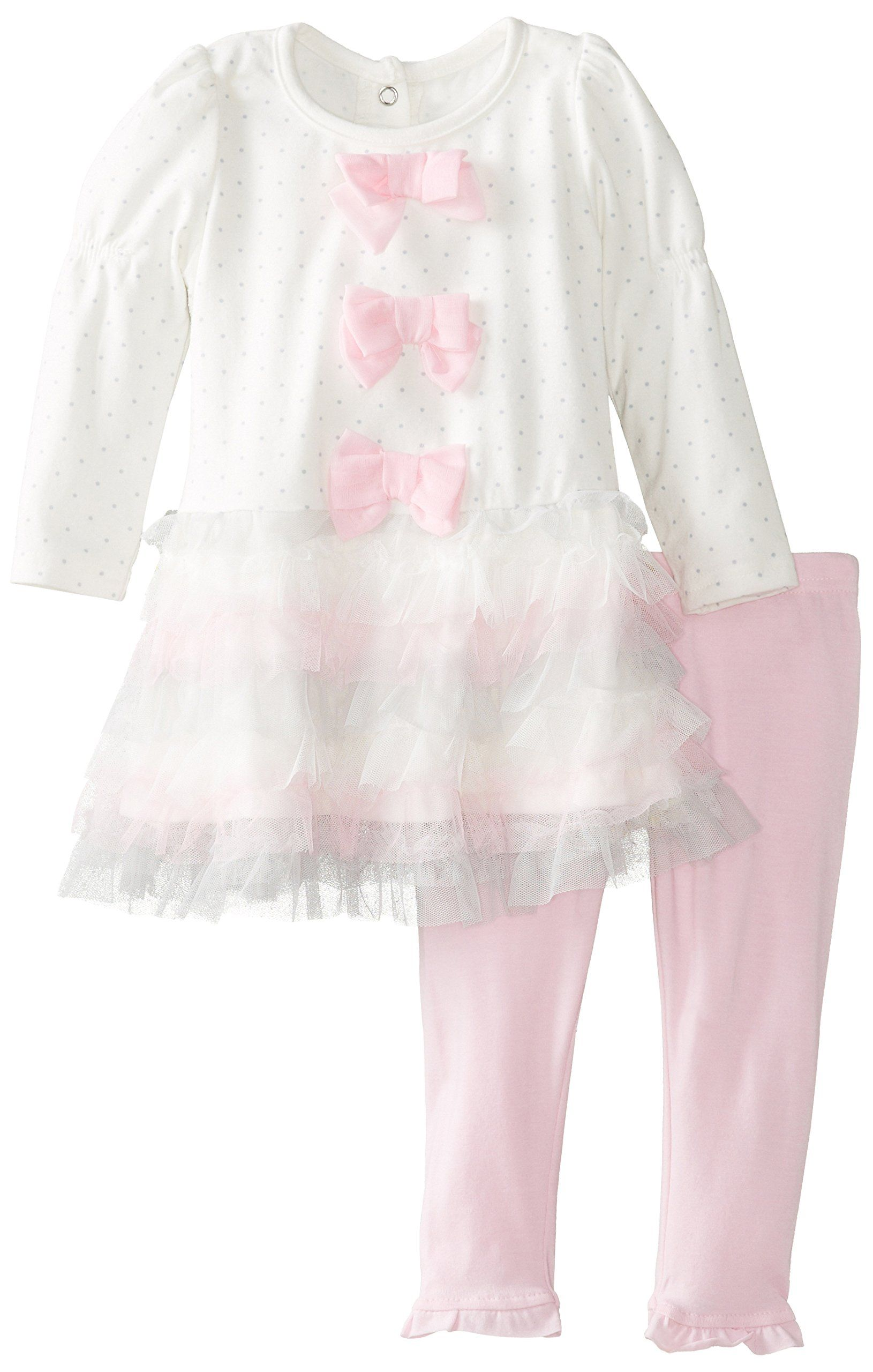 Nannette Baby Girls 2 Piece Tiered Dress Set Off White 12 Months Baby Girl Clothing Baby Girl Fashion C Cute Baby Girl Outfits Set Dress Baby Girl Clothes [ 2560 x 1630 Pixel ]