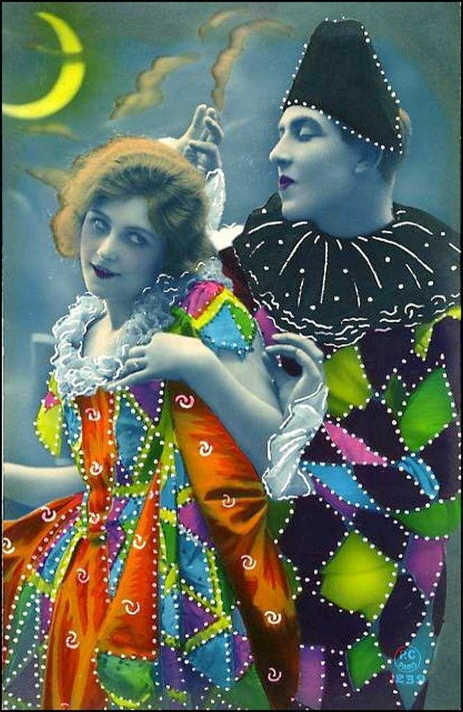 vintage - Pierrot et arlequin   Le Cirque de Merveille   Pinterest