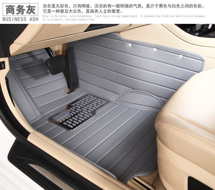 Cars Waterproof Wear Resistant XPE Material Non Slip Full Surrounded Car Floor Mats Trunk