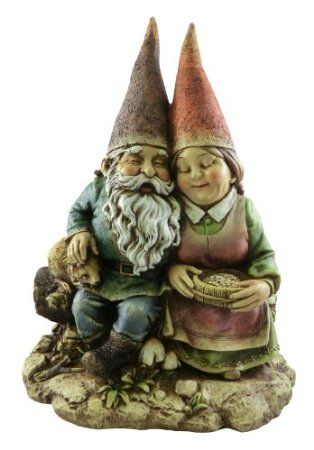 Amazon.com: Napco 12-Inch Tall Sitting Gnome Couple: Patio, Lawn & Garden  --  Awwwwwww