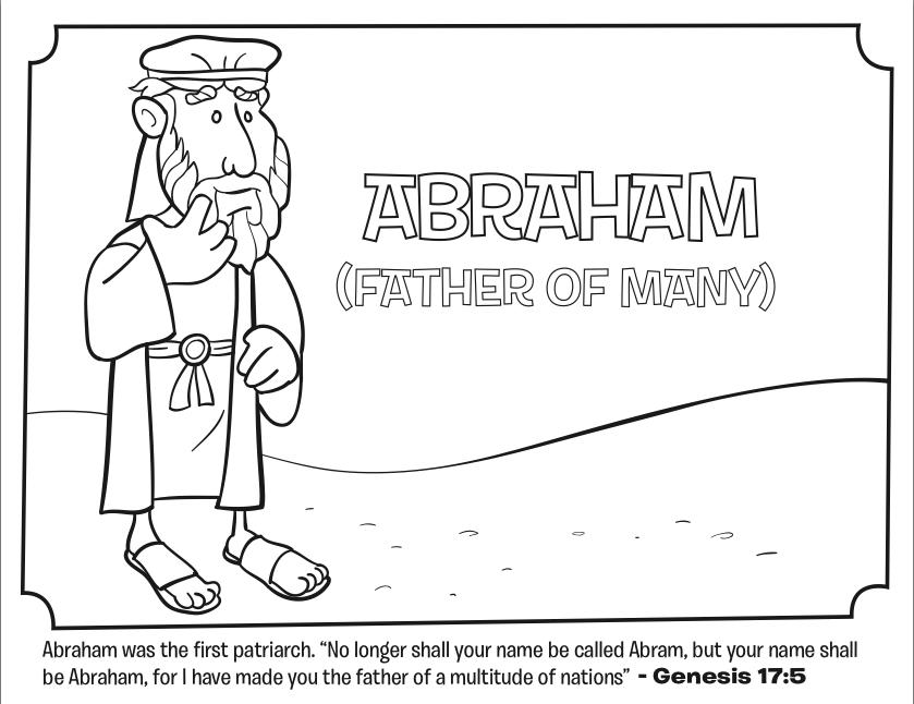 Abraham - Bible Coloring Pages | Escuela dominical, Dominical y Escuela