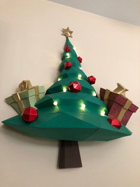 3d Create Your Own Room: CHRISTMAS Tree Papercraft, PAPERCRAFT Christmas Tree, Low