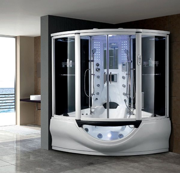 Steam Room Jacuzzi Spa Bath Shower Tv Hot Tub Whirlpool Shower