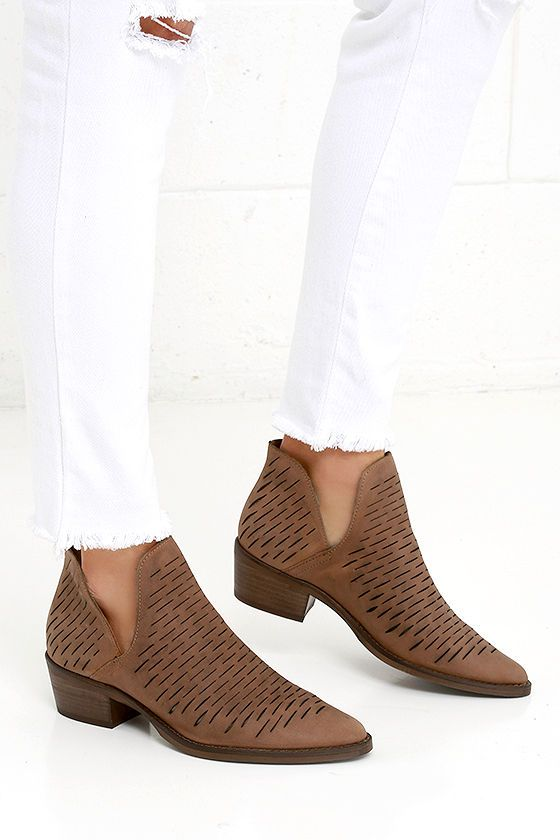 Steve Madden Arowe Tan Nubuck Leather Ankle Booties are some serious  It-Girl material.