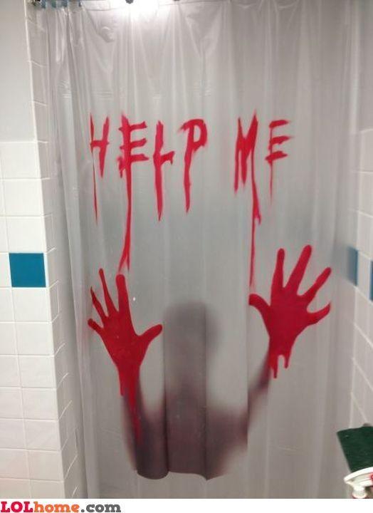Shower Murder Guest Bathroom Colors Curtain Shop Art Curtains