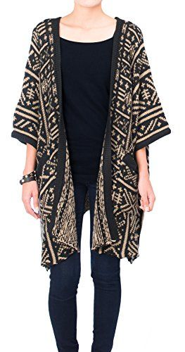 URBAN K Stylish Women's Tribal Wool-Blend Oversize Kimono Cardigan ...