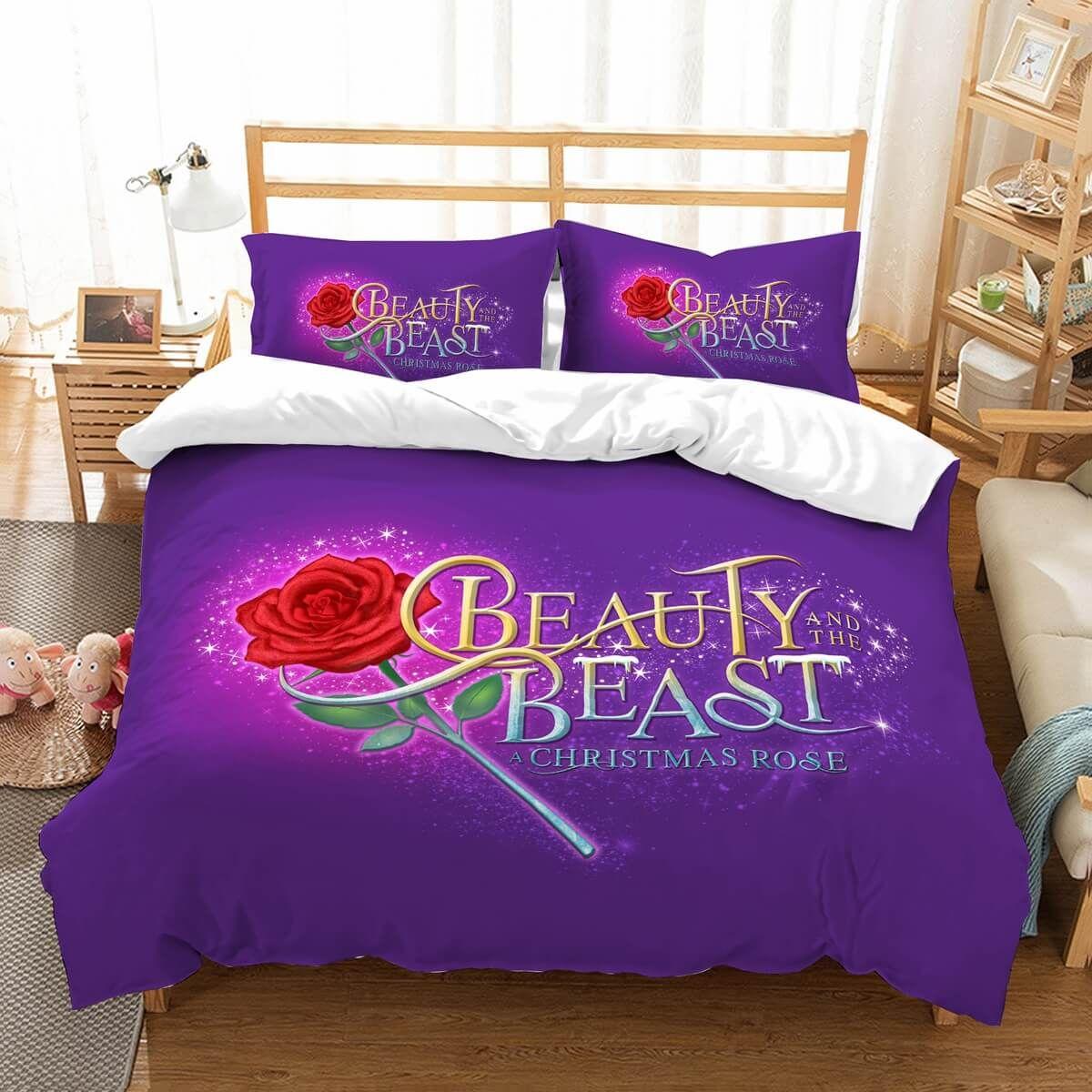 3d Customize Beauty And The Beast Bedding Set Duvet Cover Bedroom Bedlinen Sets