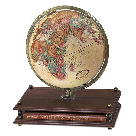 12 inch antique desk globe and Rand McNally World Atlas $199 - 12 Inch Antique Desk Globe And Rand McNally World Atlas $199