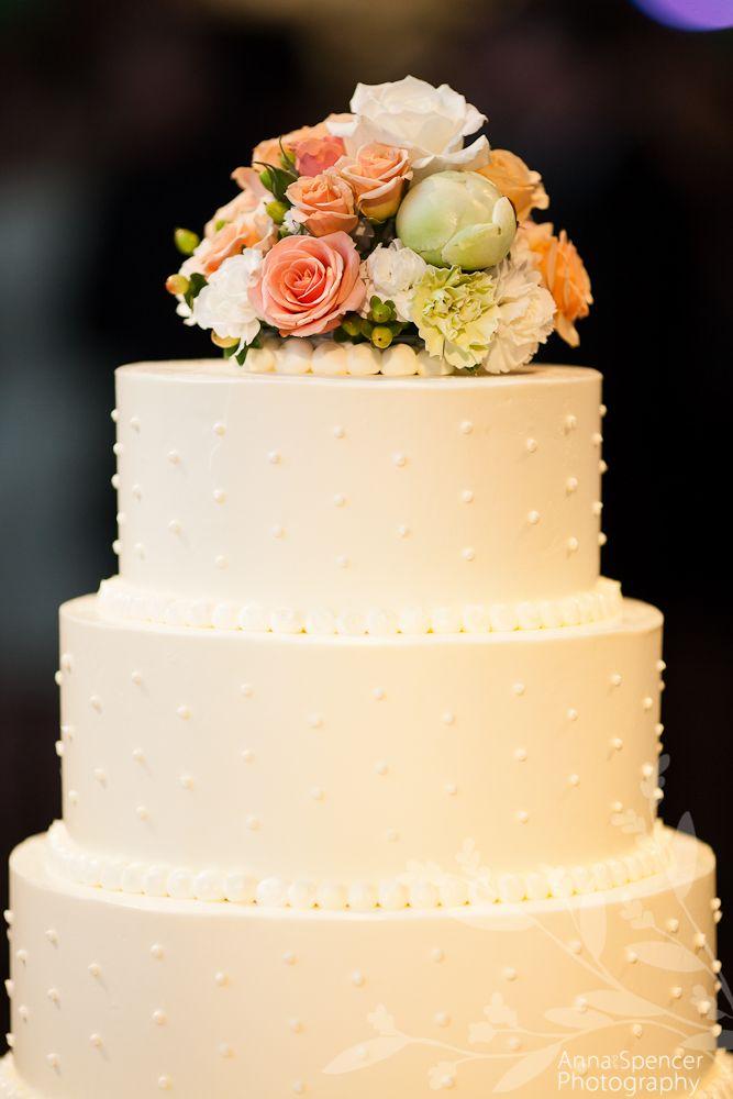 Butter creme wedding cake. | Piedmont Driving Club Atlanta Weddings ...