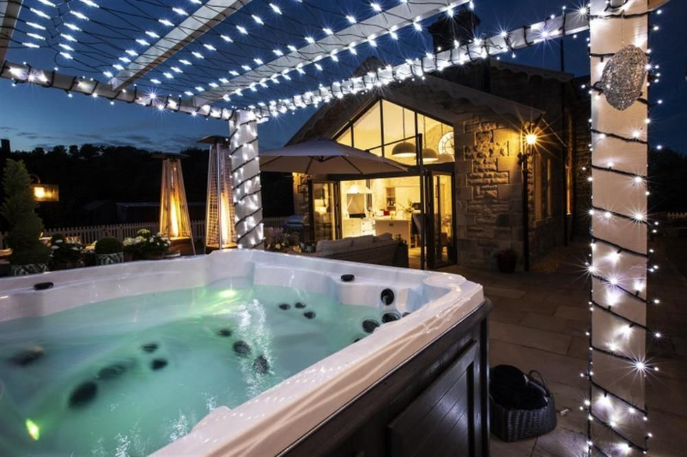 Take A Dip In The Hot Tub Underneath The Fairy Lights Yorkshire