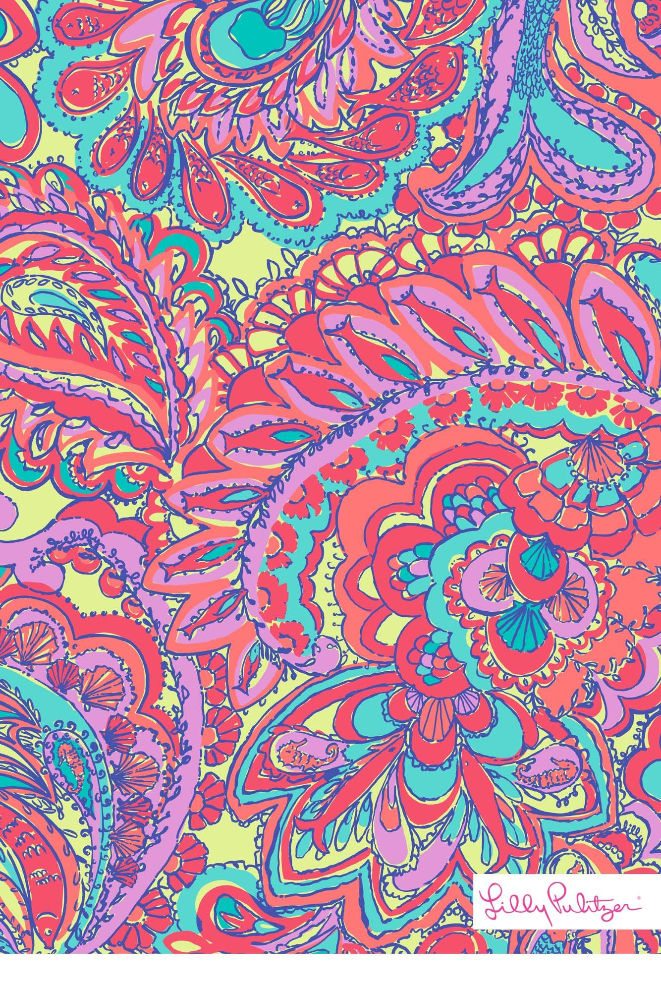 Lilly Pulitzer Patterns Lilly Pulitzer Feelin Groovy Mobile Wallpaper Patterns We Love
