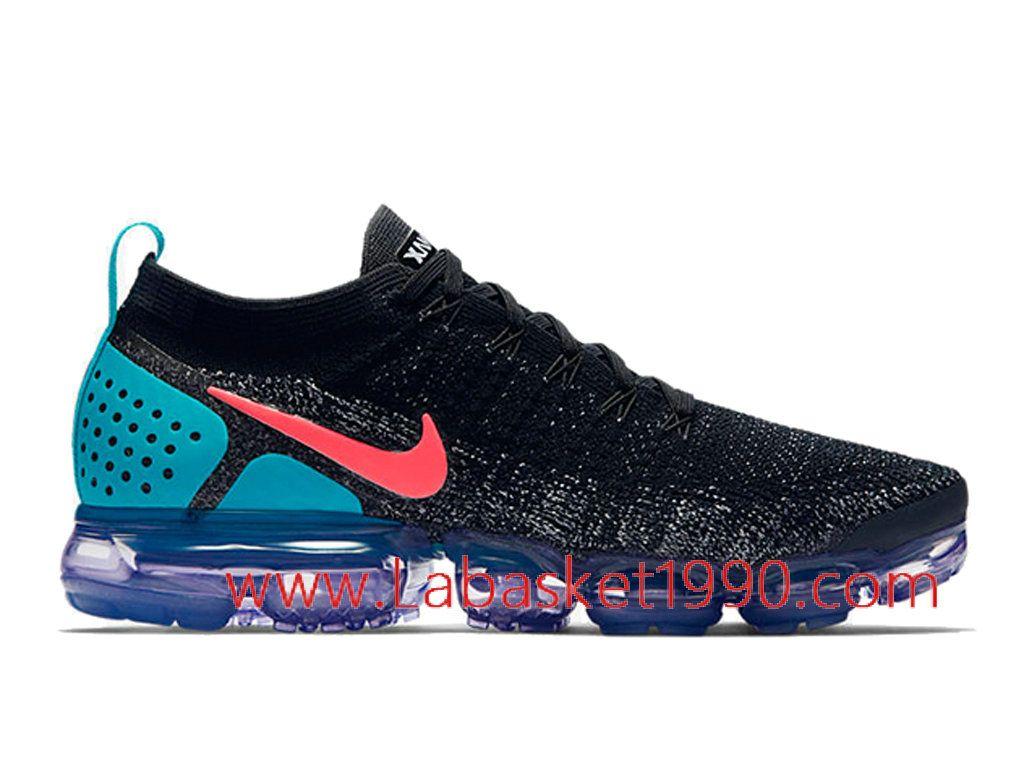 sale retailer d4e37 9eb4b Nike Air VaporMax Flyknit 2.0 942842-003 Chaussures Officiel 2018 Pas Cher  Pour Homme Noir