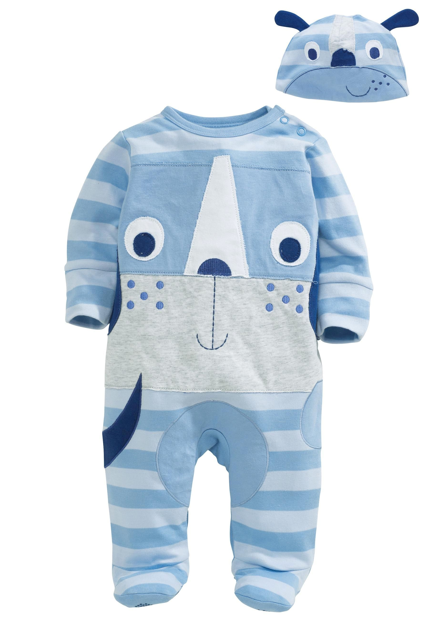 Buy Dog Sleepsuit And Hat Set (0mths-2yrs) from the Next UK online shop ed1124b46d1