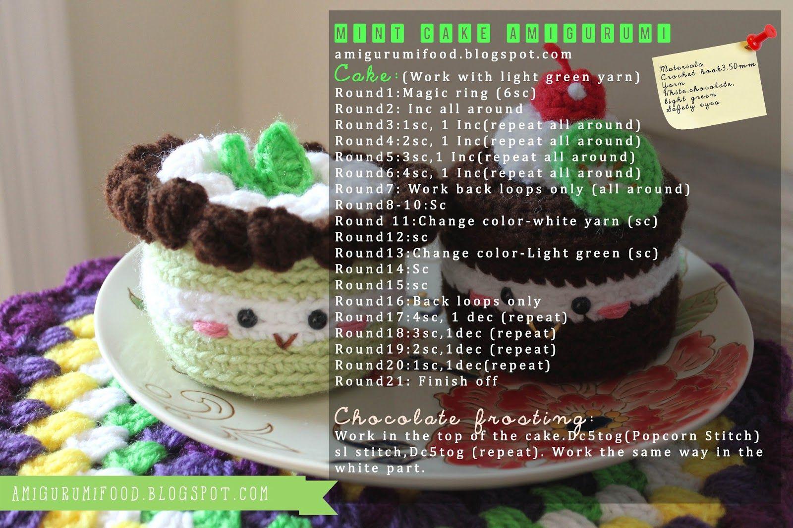 Amigurumi Food: Mint cake Amigurumi {Free Pattern}   Amigurumis ...