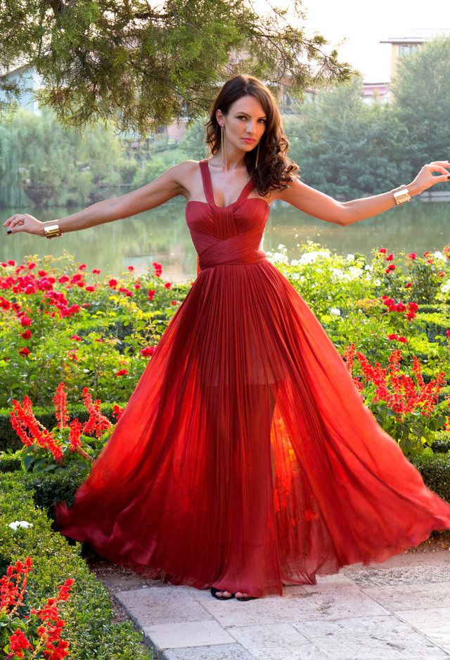 Gorgeous Red Long Prom Dresses 2017