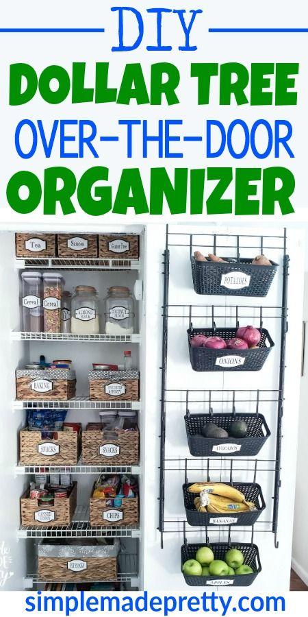 Over The Door Organizer Dollar Tree DIY