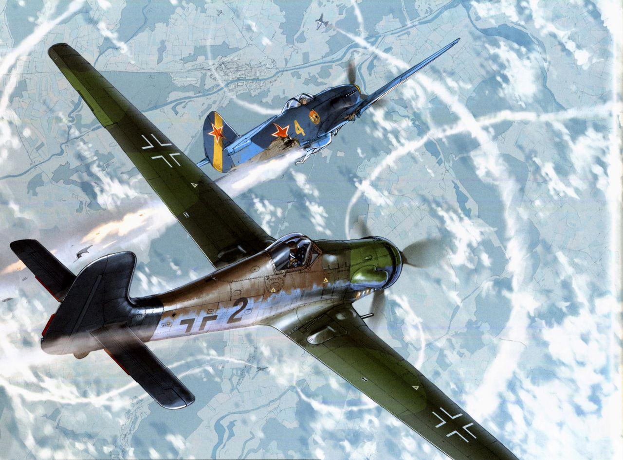 Обои german airplane, ww2, painting.aviation, Fw 190 d-9, bomber hunter, war. Авиация foto 7
