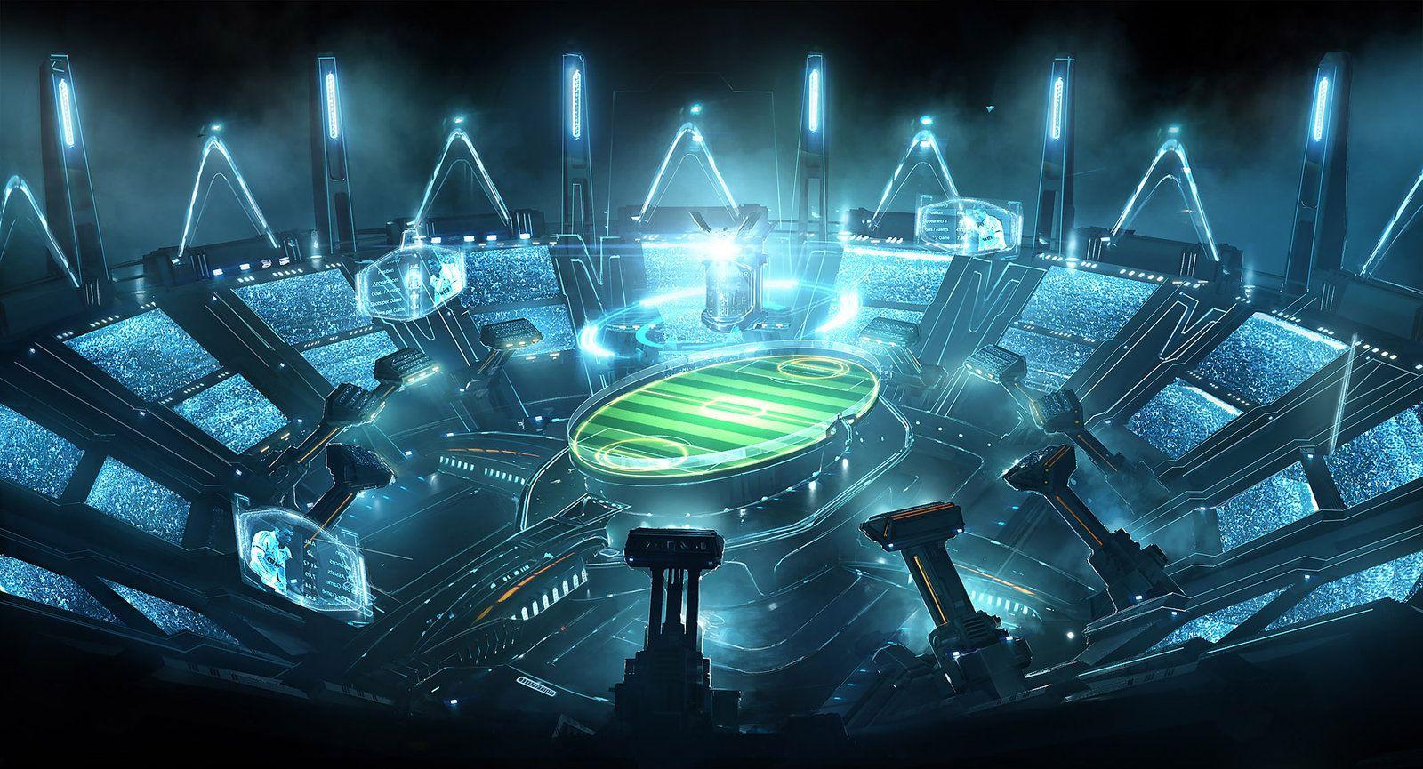 Samsung stadium by emanshiu.deviantart.com on @DeviantArt | U.G. Moodboard en 2019 | Sci fi ...