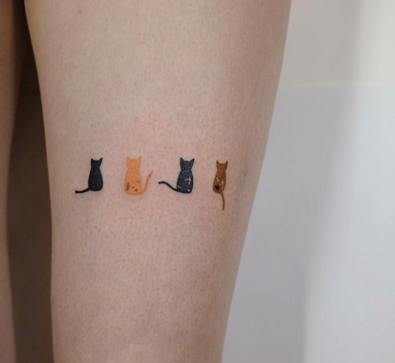 Cattattoos Tattoos Minimalist Prettytattoos Cute Cat Tattoo