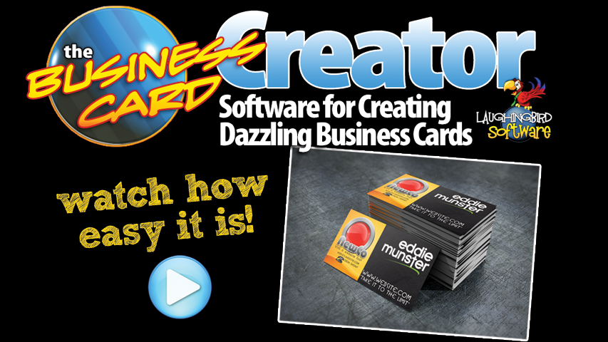 Design your own business cards with the business card creator by design your own business cards with the business card creator by laughingbird software a fun reheart Gallery