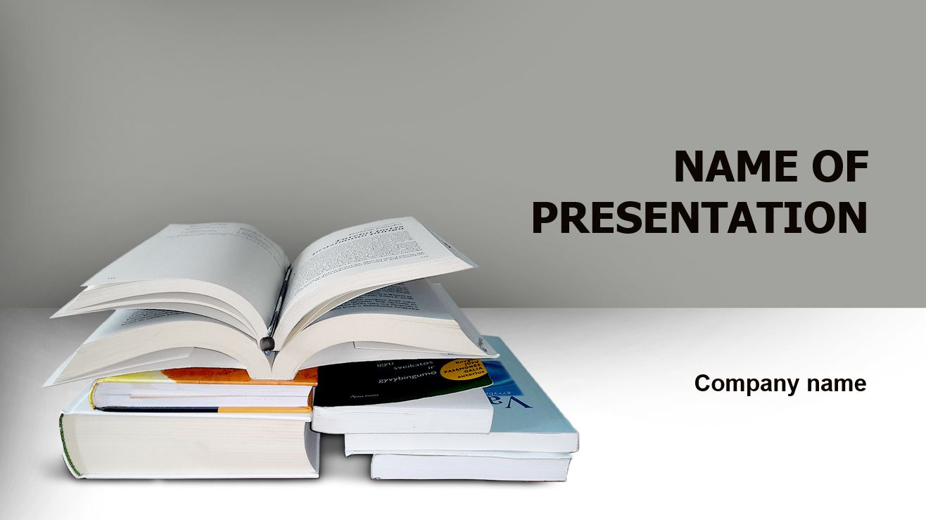 Readers Of Literature PowerPoint template and theme. This beautiful ...