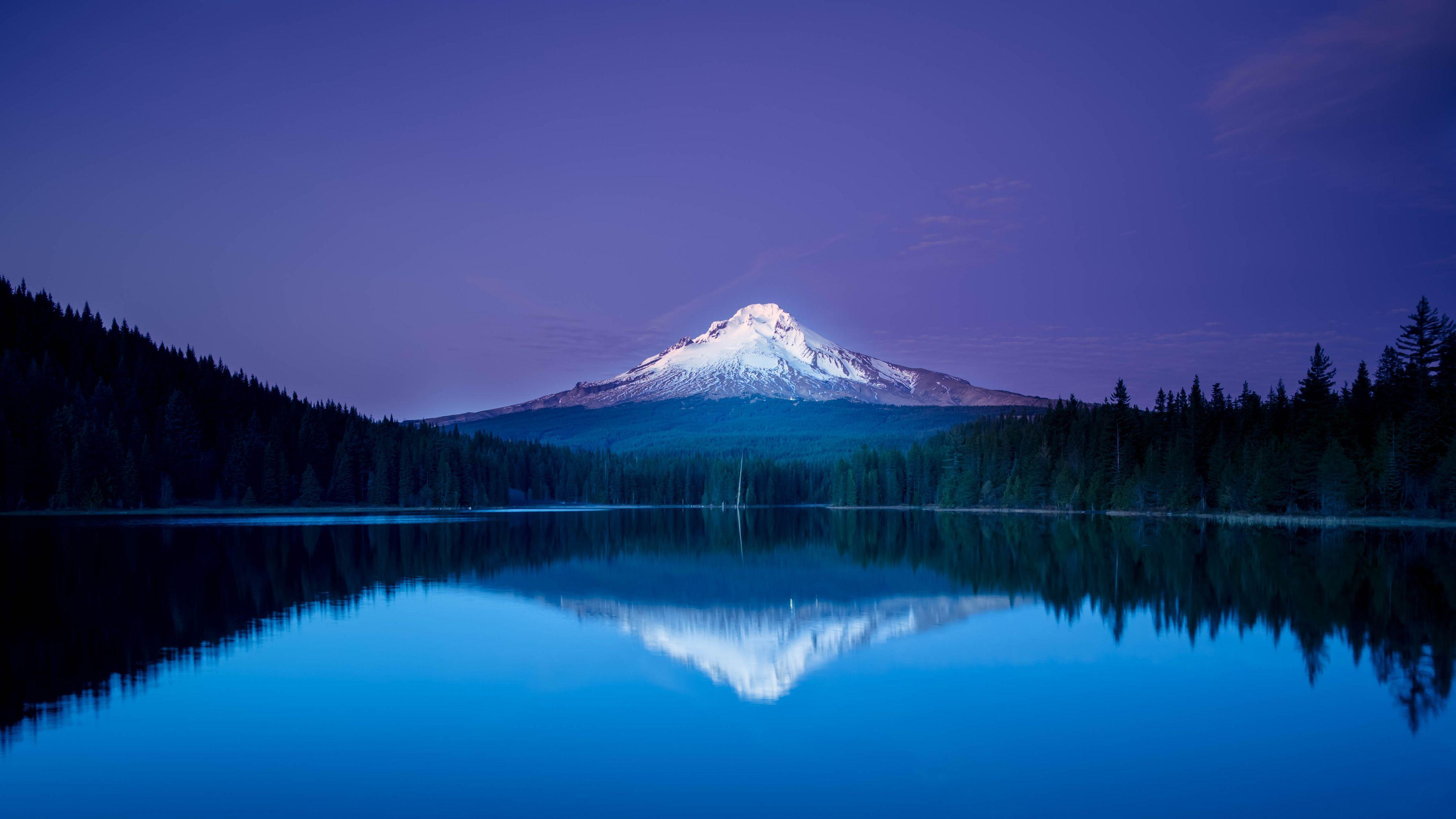 Nice Reflection Nature Wallpaper Mountain Wallpaper Trillium Lake