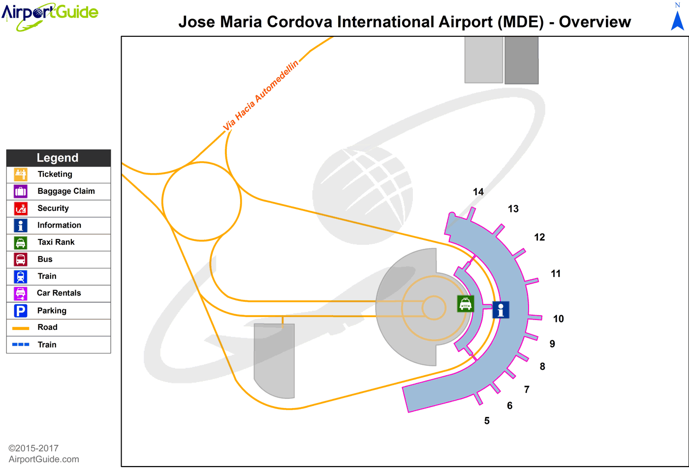 Rionegro Jose Maria Cordova International Airport Mde Airport Terminal Map Overview Airport Guide Map Airports Terminal