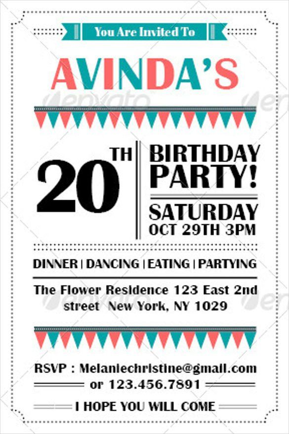 28 Birthday Invitation Email Template in 2020 Party