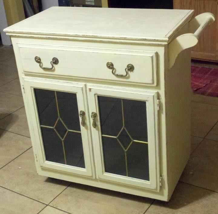 Shabby Chic Kitchen Cart!