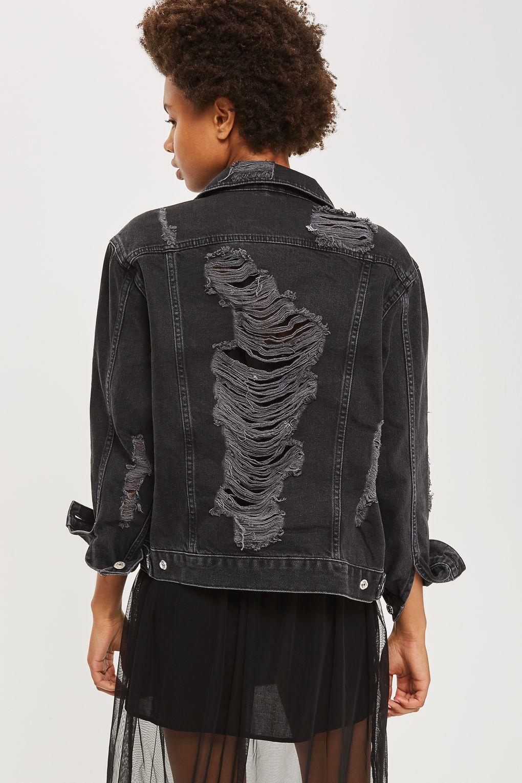 Moto Extreme Ripped Denim Jacket Topshop Usa Fashion Lookbook Fashion Ripped Denim [ 1530 x 1020 Pixel ]