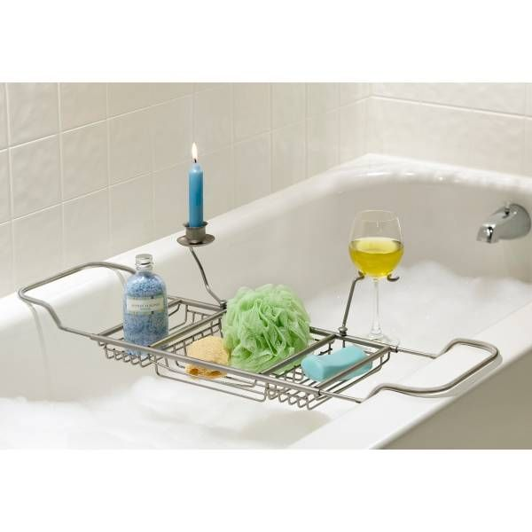 Over Tub Caddy in Satin Nickel | Bathtub tray, Tubs and Bathtubs
