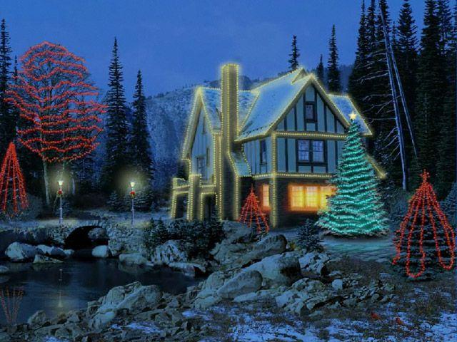 Free 3d Moving Screensaver Downloads 3d Christmas Cottage Screensaver Free Softwa Christmas Lights Wallpaper Cottage Christmas Animated Christmas Wallpaper