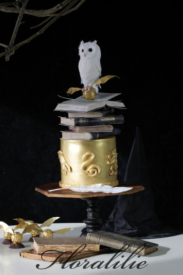 harry potter inspired cake by floralilie cake decorating tortendeko pinterest kuchen. Black Bedroom Furniture Sets. Home Design Ideas