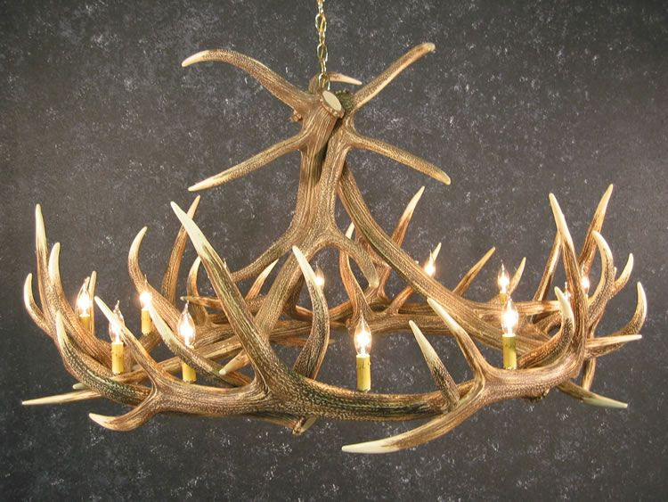 Elk reproduction antler cast chandelier 12 lights 60x32 made in elk reproduction antler cast chandelier 12 lights 60x32 made in usa mozeypictures Images
